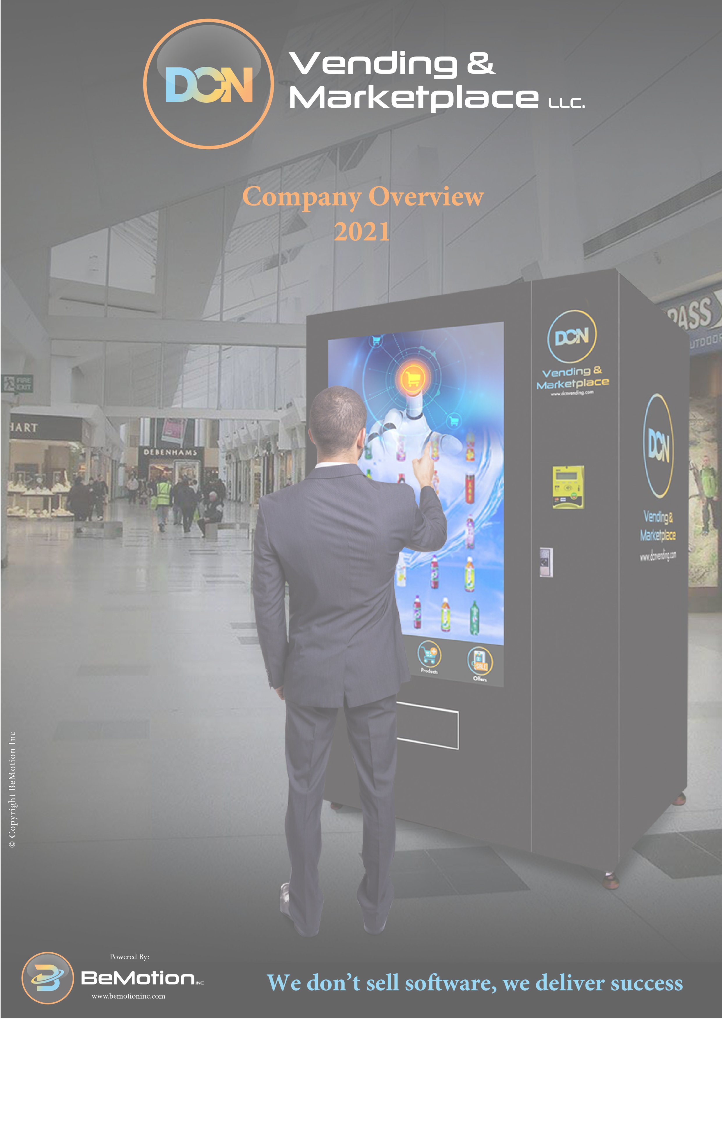 machine vending screen